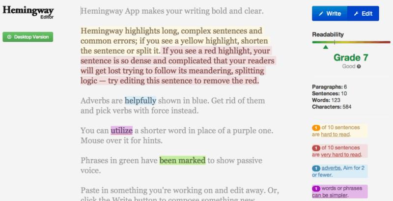 Hemingway-App-Resource