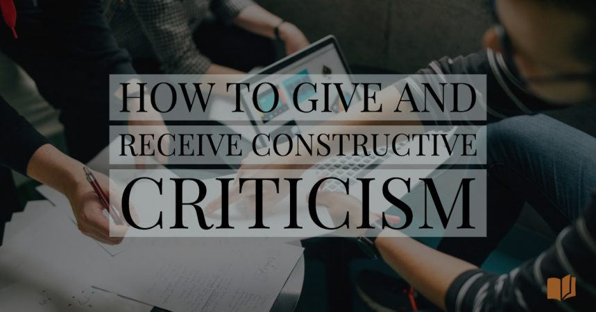 How to give and receive constructive criticism