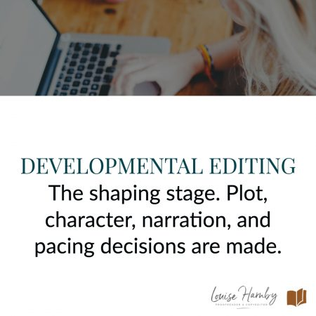 Developmental, structural, or story editing is the shaping stage where these plot, character, narration, and pacing decisions are made such that the reader is driven to turn the page and complete their experience.