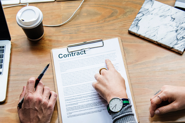 What happens after a publishing contract is signed?