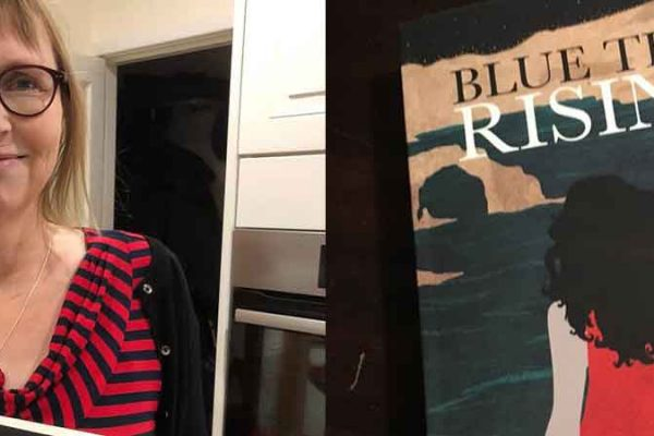 Clare Stevens and her book, Blue Tide Rising