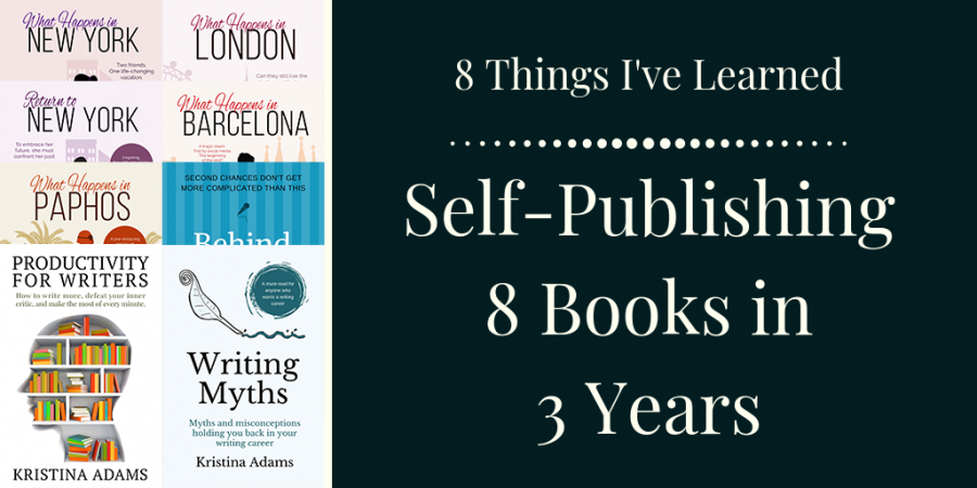 8 things I've learnt self-publishing 8 books in 3 years social share image