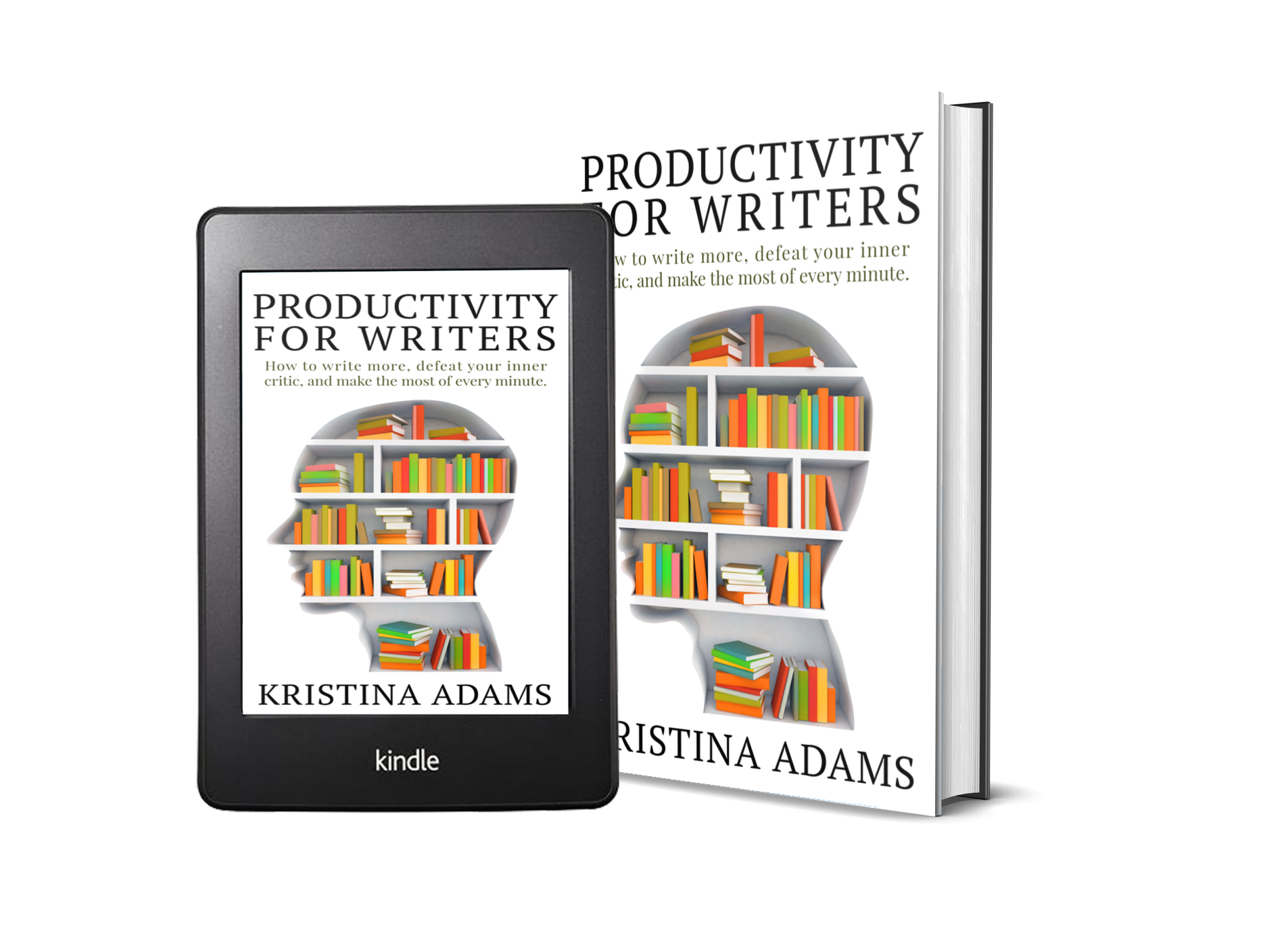 Productivity for Writers ebook and print cover mockup