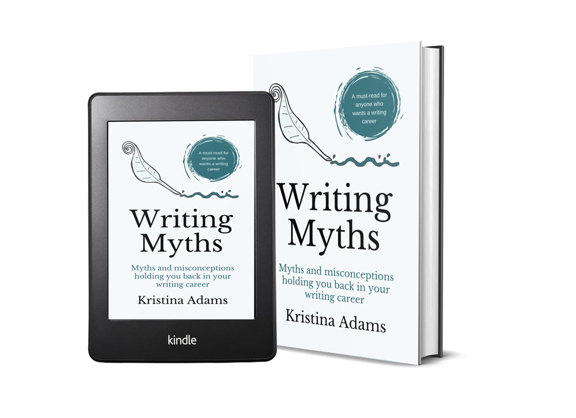 Writing Myths ebook and print cover mockup